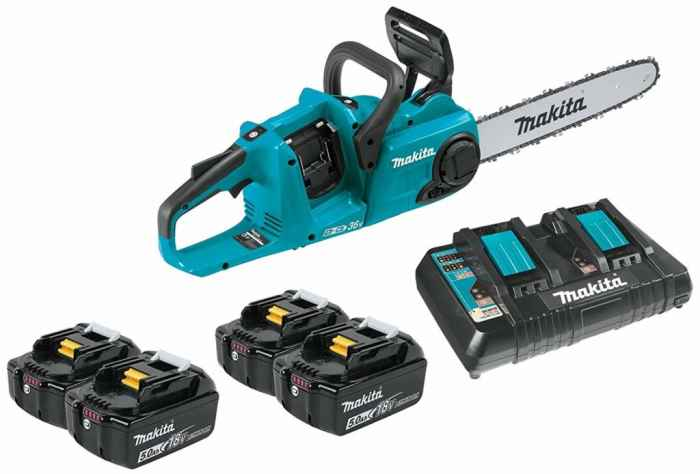Makita-XCU03PT1-18V-X2-36V-LXT-Lithium-Ion-Brushless-Cordless-14-Chain-Saw-Kit-with-4-Batteries-5.0Ah