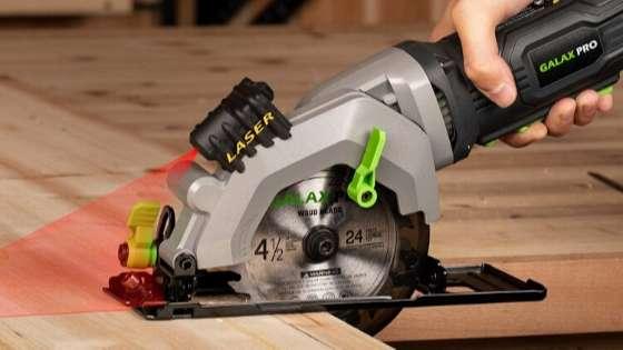Circular Saw, GALAX PRO 4Amp 3500RPM Mini Circular Saw with Laser Guide