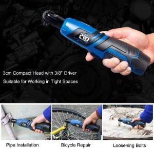 Cordless Ratchet Wrench Set, PROSTORMER 12V Electric Ratchet Tool Kit