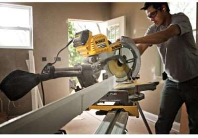 DEWALT DHS790AB FLEXVOLT 120V MAX Double Bevel Compound Sliding Miter Saw with Adapter Only