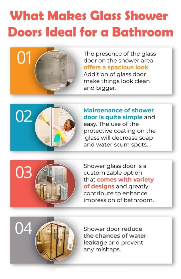 glass shower doors ideal for bathroom